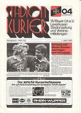 BL 81/82  Bayer 04 Leverkusen - 1. FC Nürnberg + Bremen