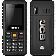 NEW Genuine JCB Toughphone Tradesman 2 SIM Free/Téléphone Portable Débloqué-Noir
