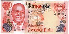 **   BOTSWANA     20  pula   2004   p-27a    UNC   **