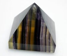 "232.9g NATURAL COLORFUL RAINBOW FLUORITE ""PYRAMID"" QUARTZ CRYSTAL POINT HEALING"