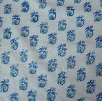 10 Yard Indian Hand Block Print Pure Cotton Fabric Sanganeri Running Fabric 3