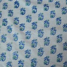 Indian Hand Block Print Pure 100% Cotton Fabric Sanganeri Running Fabric 3 Yard