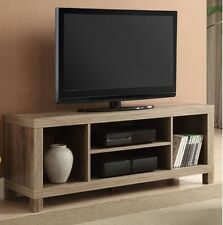 TV Stand For Flat Screens Rustic Credenza Storage Shelves Media Center Weathered