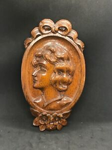 Wood Carving of Americana woman