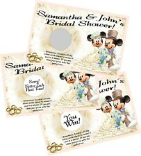 MICKEY AND MINNIE MOUSE WEDDING SCRATCH OFF OFFS GAME CARDS BRIDAL SHOWER FAVORS
