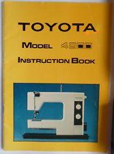 TOYOTA Models 302 /& 521 ZigZag Sewing Machine Instruction Manual Booklet