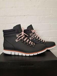 Cole Haan Zerogrand Waterproof Gray Pinstripe Hiker Boot Size 9.5