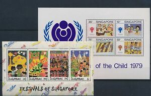 LN74653 Singapore year of the child festivals sheets MNH