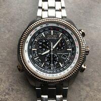 Citizen Eco-Drive Perpetual Calendar Watch E820-S094569 Pilots Watch Runs Great