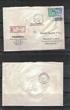 Deutsche Briefmarken der alliierten Besatzung als Einzelmarke mit Mischfrankatur