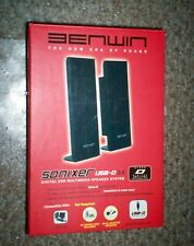 NEW - Benwin Sonixer USB Powered Multimedia Speaker Set (Black)