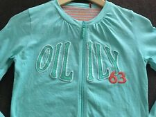 Oilily Lt Green Lt Weight Cotton Zip Cardigan Age 12 Years Mint Condition