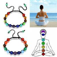 naturstein chakra - armband. heilung gleichgewicht mit yoga - perlen armband