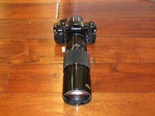 Canon A-1 35mm SLR Film Camera W/ Soligor 400mm f5.6 Telephoto Lens+Hoya Filter