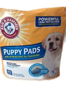 Arm And Hammer Absorbent Puppy Pads Dog 22.5 In X 22.5 In 50 Count *New*