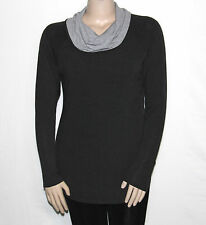NEW Legacy Size Large Sweater Jersey Knit Cowl Neck Long Sleeve Tunic CHARCOAL