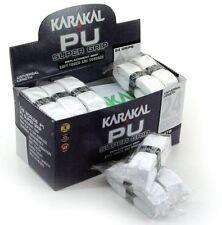 24 x Karakal Super PU Replacement Grips - Tennis - Squash - Badminton - White