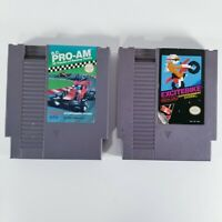 Nintendo NES Racing Game Lot of (2) RC Pro AM and Excitebike TESTED