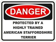 Dog Breed American Staffordshire Terrier Danger Sticker Pet for Bumper Locker