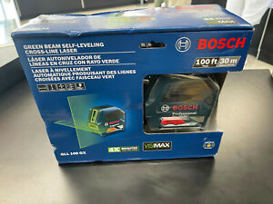 NEW SEALED Bosch GLL 100 GX Green Beam Self-Leveling Cross Line Laser