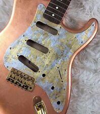 Pickguard Fender Stratocaster style GOLD SILVER LEAF scratchplate battipenna SSS