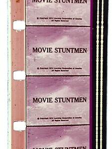 "Learning Corporation of America ""Movie Stuntmen"" 1974 16mm Color Sound Film Rare"