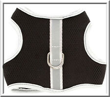Top Paw Black Mesh w/ Silver Trim Reflective Soft Dog Harness XS