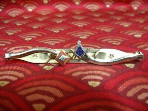 Vintage Mid-Century Anson Masonic Tie Clasp Clip Bar
