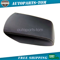 Console Armrest Leather Synthetic Cover for Ford Explorer 11-19 Beige Stitch