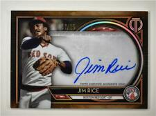 2020 Tribute Auto Orange #TA-JR Jim Rice /25 - Boston Red Sox