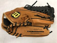 "Wilson A0600 Baseball Glove Right Hand Thrower Ecco Leather 12 1/2"" A600 Great!"