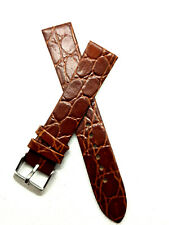 Leder Uhren Ersatzband in Braun 18mm ohne naht / glatt