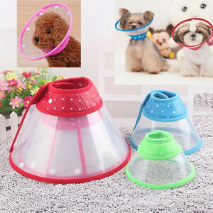 DOG CAT COLLAR SOFT ANTI-BITE PET PUPPY MEDICAL PROTECTION HEAD CONE ALL