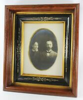 Eastlake Antique  Picture Frame - Victorian Couple Photo