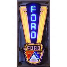 5' Ford Jubilee in White Steel Can Neon Sign - Officially Licensed