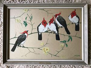 Martin Erich Philipp Original Woodcut (1887-1978) Cardinals Signed 1924
