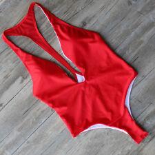 Women Swimsuit Monokin Bathing Suit Bikini Brazilian Swimwear Triangle Size S