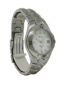 Bulova Marine Star 96B92 Men's Round White Analog Date Stainless Steel Watch