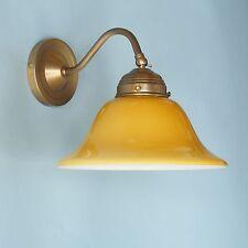 Jugendstil Wandlampe Wandleuchte Flurlampe Leselampe Glas Cognac Dielenleuchte