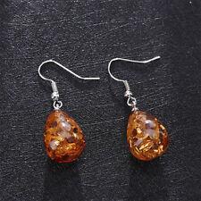 Fashion Women Vintage Baltic Amber Drop Dangle Earrings Hook Jewelry Gifts