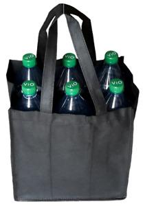 Flaschentasche für 6 große Flaschen, in 4 Farben Bottlebag Flaschenträger Tasche