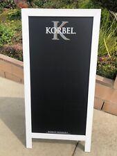 Korbel Beer Bar A-Frame Chalkboard Man Cave Mirror