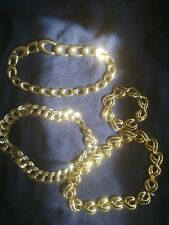 3 and 1 bracelet thick link chains bundle of