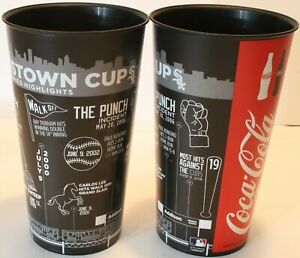 """Lot 2 2019 Chicago White Sox Crosstown Cup 7"""" Cups Coca Cola The Punch Cubs"""