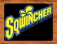 "TIN-UPS TIN Sign ""Squincher Cola"" Vintage Soda Ad Garage Alcohol"