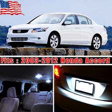 14PCS White Interior LED Light Bulb Package Kit Deal For 2003-2012 Honda Accord