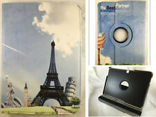 "FUNDA TABLET PARA SAMSUNG GALAXY TAB 4 10.1 10,1"" T530 T535 360º DIBUJO PARIS"