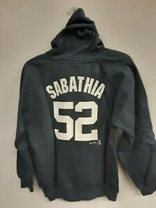 2009 NY YANKEES SABATHIA 52 YOUTH HOODIE SWEATSHIRT SIZE M(10/12) NEW