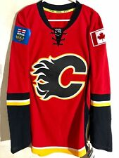 Reebok Authentic NHL Jersey Calgary Flames Team Red sz 52