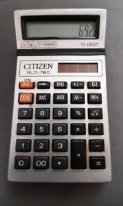 Citizen SLD-760 vintage calculator, solar power
